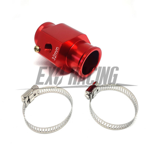 Exoracing Red Water Temp Gauge Radiator hose Sensor adapter 28mm
