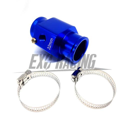 Exoracing Blue Water Temp Gauge Radiator hose Sensor adapter 32mm