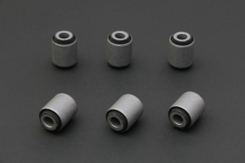 HARDRACE HARDENED RUBBER REAR TOE CAMBER AND TRACTION LINK BUSHES 6PC SET NISSAN 200SX S14 SILVIA S15