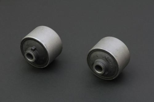 HARDRACE HARDENED RUBBER REAR TRAILING ARM BUSHES 2PC SET MITSUBISHI LANCER VIRAGE EVO 1-3 93-00