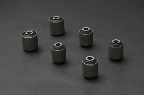 HARDRACE HARDENED RUBBER STEEL BODY REAR LOWER ARM BUSHES 6PC SET MISTUBISHI EVO 4-9 96-07
