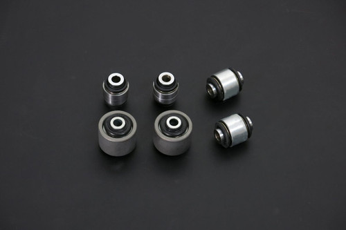 HARDRACE SPHERICAL BEARINGS REAR LOWER ARM BUSH ALUMINIUM BODY 6PC SET MITSUBISHI EVO 4-9 96-07