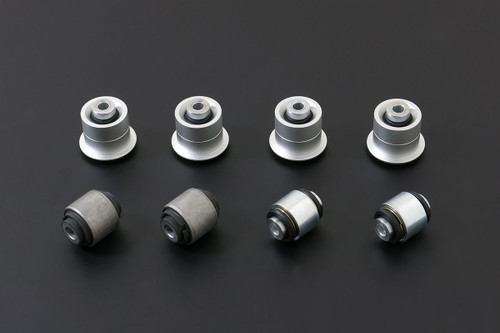 HARDRACE SPHERICAL BEARINGS/HARDENED RUBBER REAR UPPER ARM BUSHES 8PC SET MAZDA RX7 FD 92-02