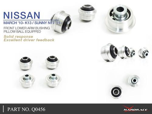 Hardrace Front Lower Arm Bushing Harden Rubber (4 Piece Set) FOR NISSAN Micra K13 10- Sunny N17 11-