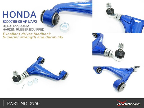 HARDRACE STREET SERIES ADJUSTABLE REAR UPPER CONTROL ARM HONDA S2000 AP1 AP2 99-09