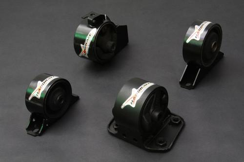 HARDRACE HARDENED ENGINE MOUNTS 4PC SET MITSUBISHI LANCER VIRAGE AT 93-96