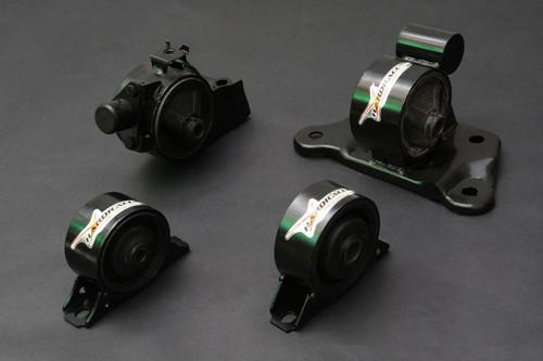 HARDRACE HARDENED ENGINE MOUNTS 4PC SET MITSUBISHI LANCER VIRAGE MT 1.6 97-00