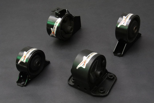HARDRACE HARDENED ENGINE MOUNTS 4PC SET MITSUBISHI LANCER VIRAGE MT 93-96