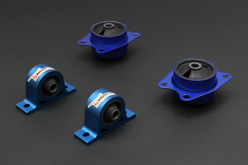 HARDRACE REINFORCED DIFFERENTIAL MOUNT WITH HARDENED RUBBER BUSHES 4PC SET HONDA S2000 AP1 AP2 99-09