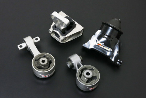 HARDRACE STREET SERIES HARDENED ENGINE MOUNTS 4PC SET HONDA CIVIC FD 2.0 AT 06-11