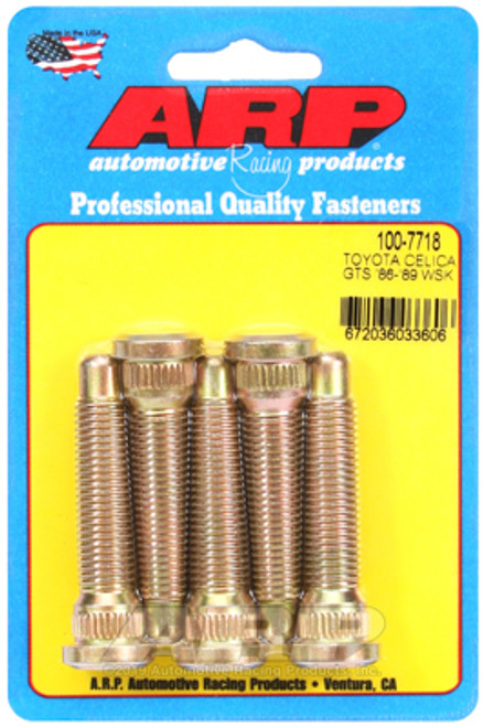 ARP EXTENDED WHEEL STUDS TOYOTA CELICA GTS 86-89 5 PACK