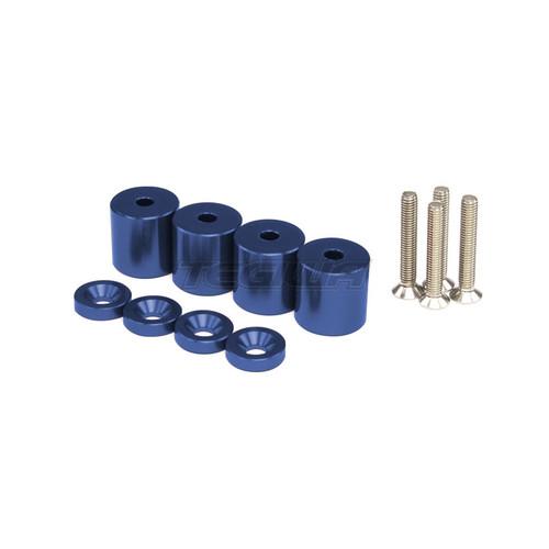 TEGIWA BONNET SPACERS 37MM M6 BLUE