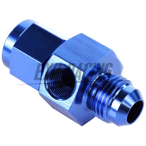 """Exoracing Blue AN -6 (AN6) Male to Female 1/8"""" NPT Gauge Sensor Port Adapter"""