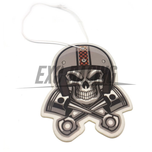 Exoracing japanese skull pistons air freshener