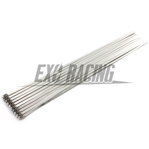Exoracing 10 x quality stainless steel cable tie exhaust 4.6mm x 300mm