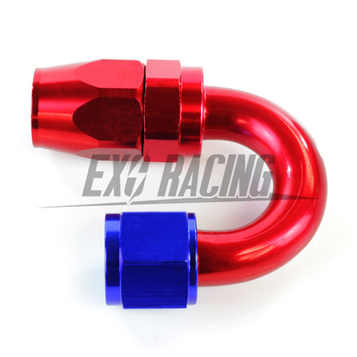 Exoracing AN10 AN-10 180 degree hose end fitting aluminium