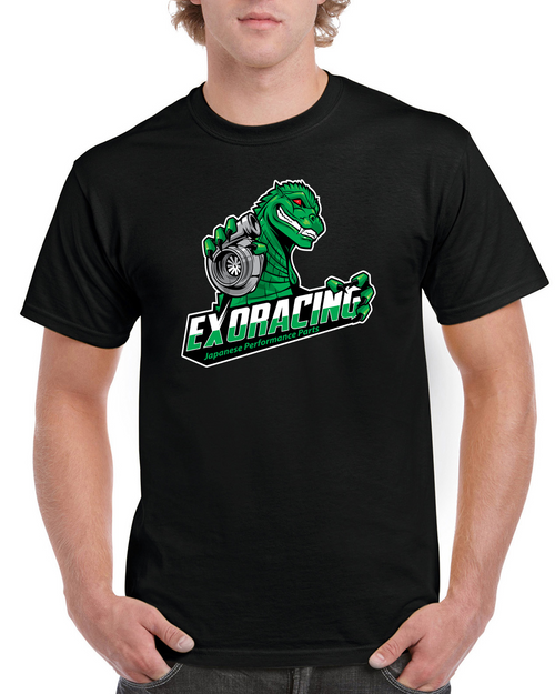 Exoracing Boostasaurus Tshirt gildan heavy cotton S-XL
