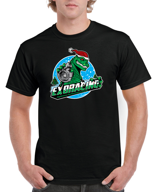 LIMITED EDITION Exoracing christmas Boostasaurus Tshirt gildan heavy cotton S-XL