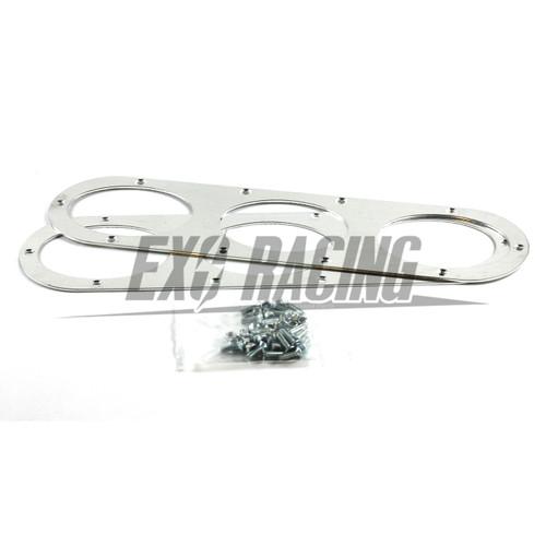 2 x Exoracing Silver universal fitment aluminium rear bumper air diffusers