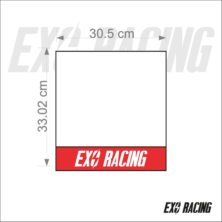 Exoracing racing number boards JDM honda civic integra CRX CRV Type r