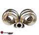 SPEEDFACTORY RACING STAINLESS STEEL TURBO MANIFOLD RAM HORN STYLE B-SERIES T3 FLANGE W 38-40MM 2 BOLT WG