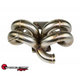 SPEEDFACTORY RACING STAINLESS STEEL TURBO MANIFOLD RAM HORN STYLE D SERIES T3 FLANGE W 38-40MM V-BAND WG - AC COMPATIBLE
