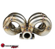 SPEEDFACTORY RACING STAINLESS STEEL TURBO MANIFOLD RAM HORN STYLE D SERIES T3 FLANGE W 44-46MM V-BAND WG