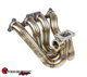 SPEEDFACTORY RACING STAINLESS STEEL TURBO MANIFOLD TOP MOUNT STYLE B-SERIES T4 DIVIDED FLANGE W SINGLE 60MM V-BAND WG