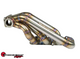 SPEEDFACTORY STAINLESS STEEL TURBO MANIFOLD SIDEWINDER STYLE K SERIES DIVIDED T4 W TWIN 38MM V-BAND TIAL WG