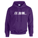 Exoracing Hoodie Purple w/ White logo unisex Gildan heavyblend S-XL