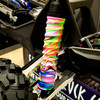 Sample of our Neon Flux shock boots on a X-MAXX shock.