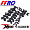 Traxxas X-MAXX Pit boxes are stacked with top quality 12.9 Grade Black Oxide screws.  Extras of what you need along with a set of wheel bearings!