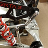 Aluminum torsion levers show here mounted on our shop Kraken Vekta truck (Right side) with the super beefy IRP links! These levers mount directly to your swaybar using the stock set screw.