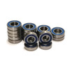 Team Losi DBXL-E 1/5th Scale Electric truck complete 18 Piece blue rubber sealed bearing kit!  Swap out all your worn out bearings with our high quality replacements.
