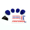 Traxxas X-MAXX Custom 3D printed skull body washers by Fullforce RC.  Complete with hardware.  4 PACK Blue version.
