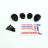 Traxxas X-MAXX Custom 3D printed skull body washers by Fullforce RC.  Complete with hardware.  4 PACK  Black version.