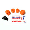Traxxas X-MAXX Custom 3D printed skull body washers by Fullforce RC.  Complete with hardware.  4 PACK  Orange version.