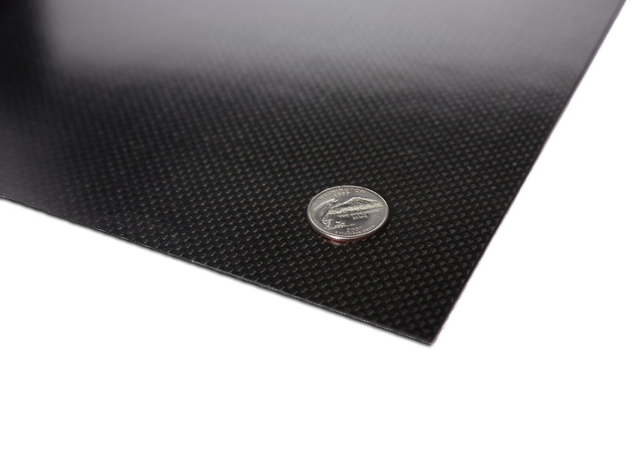 "Carbon fiber panel measures 9.0x11.875"" 2.0mm.  This sheet is the perfect size for a custom 1/10th scale chassis or a rigid upper deck.  Can also be used for custom shock towers and many other parts."