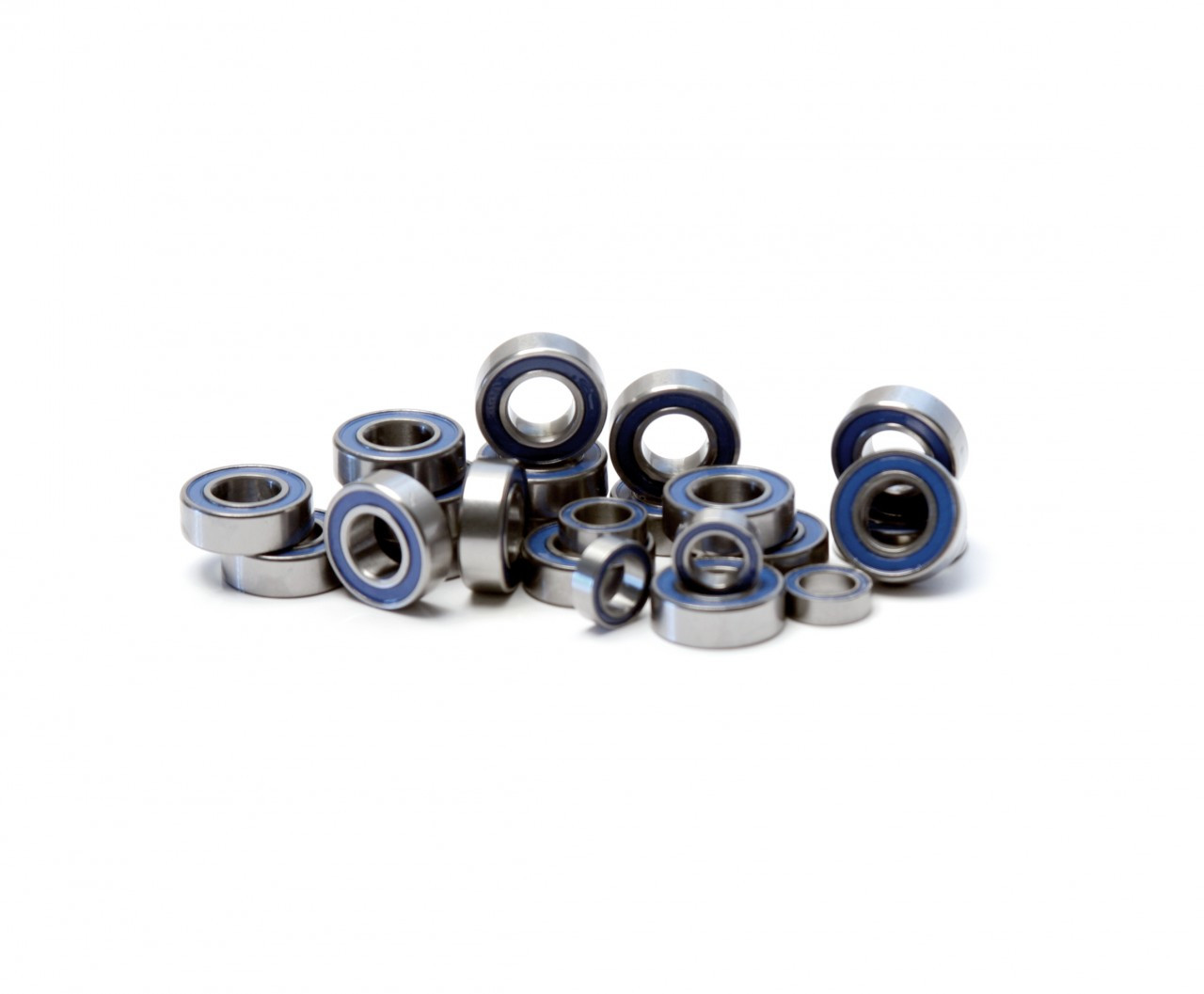 CLODBUSTER / BULLHEAD 24 PIECE FULL BEARING KIT By FULLFORCE RC Blue rubber sealed bearings.