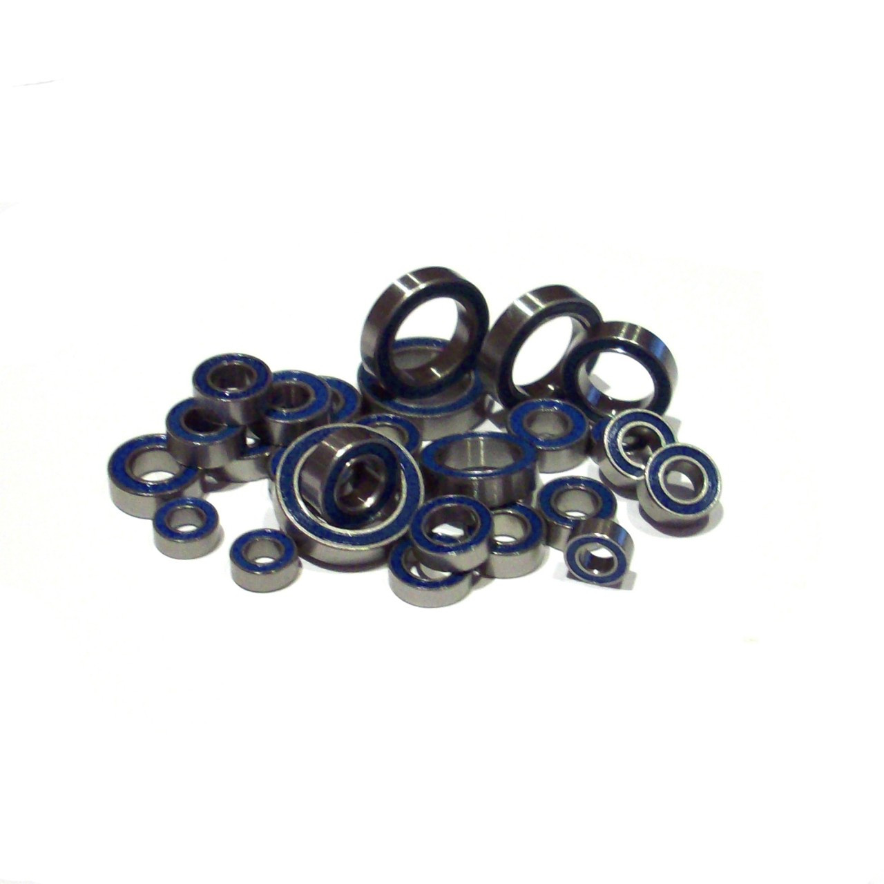 Team Losi Competition Crawler Full 26 piece bearing kits includes all bearings on the truck.  Super slick blue rubber sealed bearings.