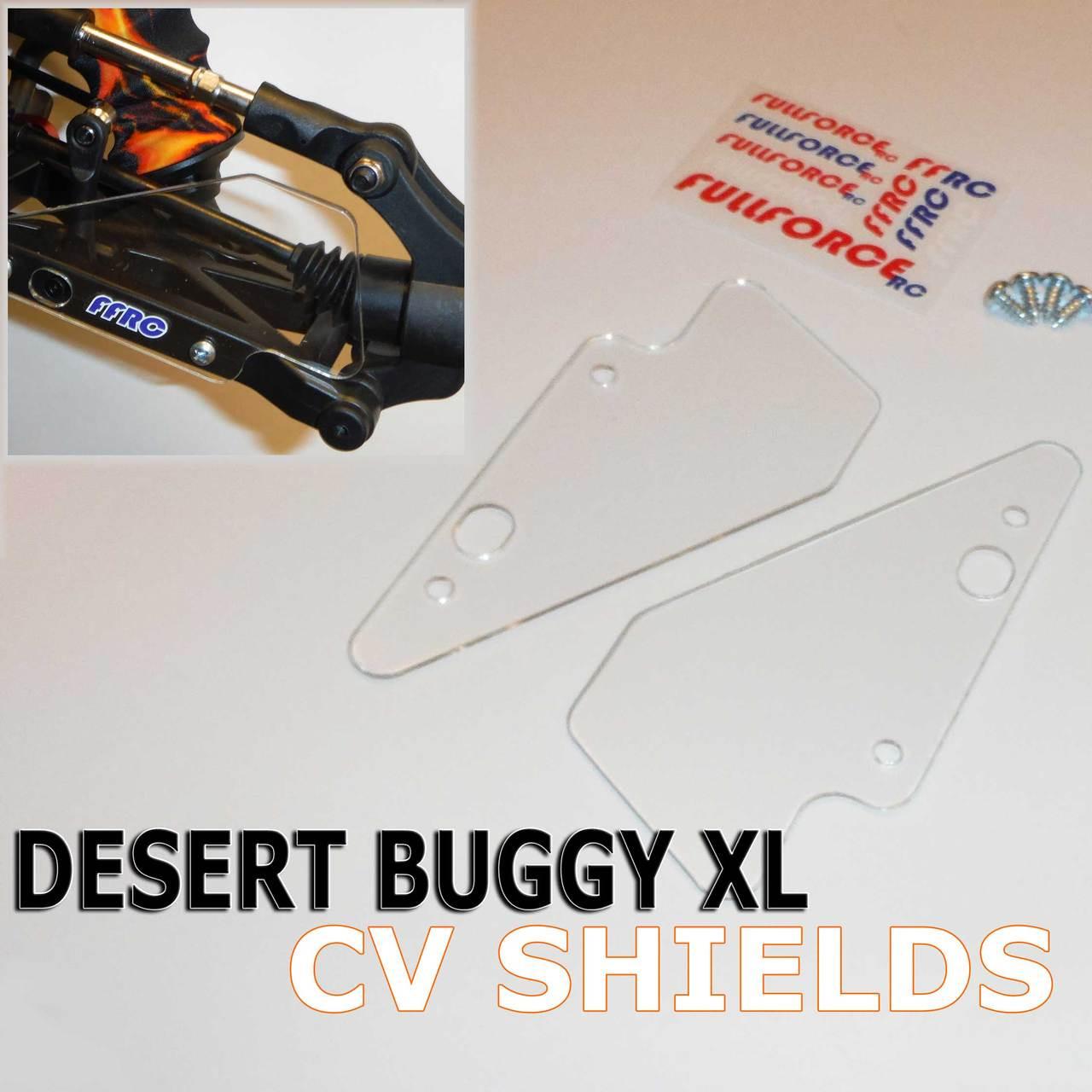 Team Losi Desert Buggy XL Rear CV shields.  Fits the original DBXL, new K&N trucks and the DBXL-E Electric tucks too.