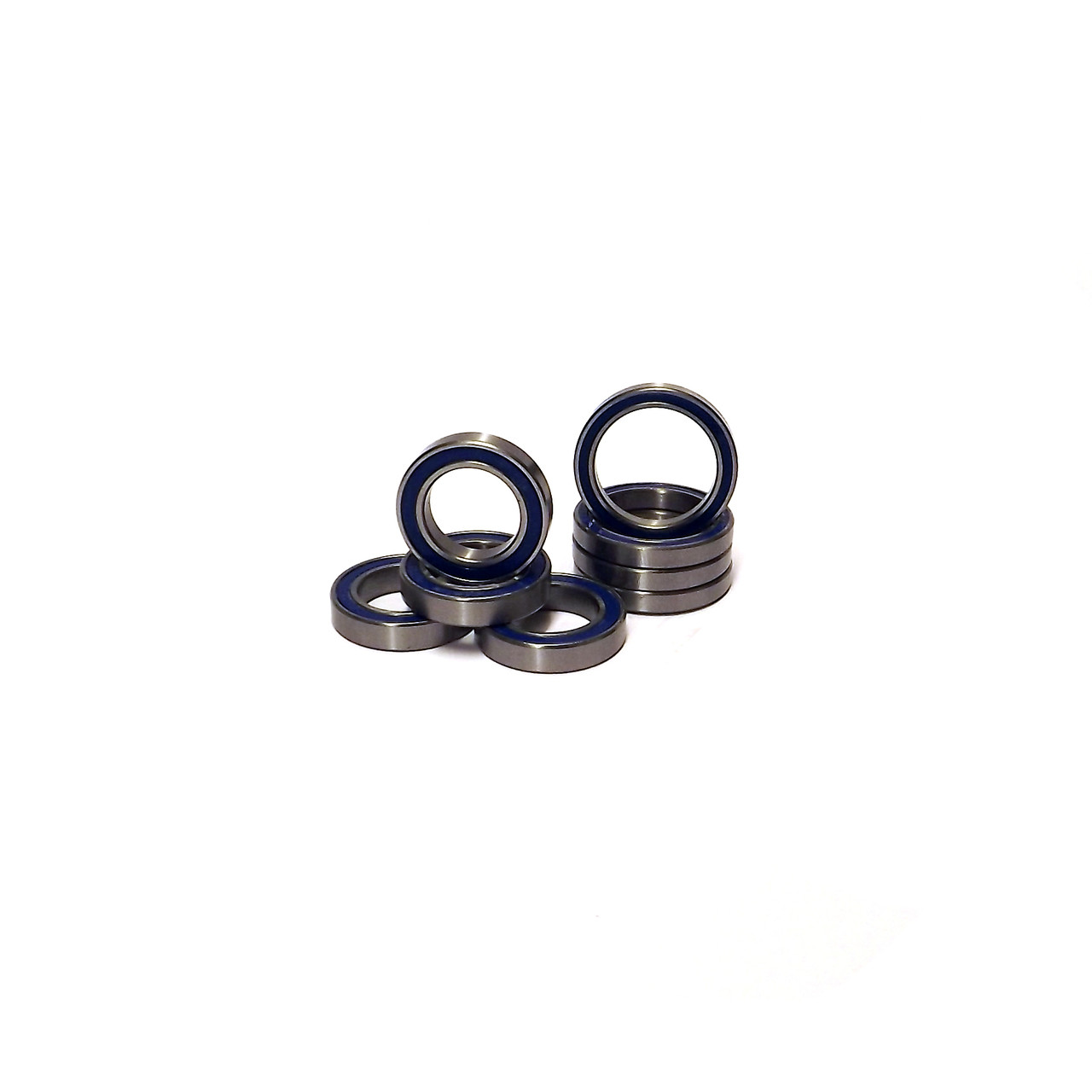 Traxxas X-MAXX Blue Rubber sealed wheel bearings.  8 pcs. Includes 4-12x24x5 mm and 4-20x27x4 mm Bearings.