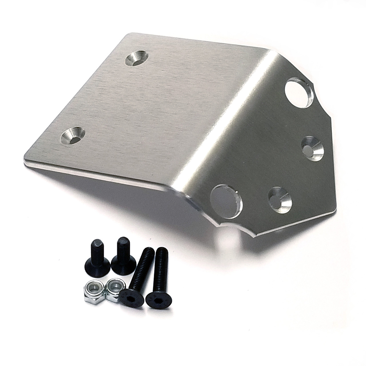 "Aluminum skid plate for your Kraken Vekta.  This is the short version which bolts to only two of the lower mounting points as well as the two new holes you have to drill in the plastic skid plate.  T6 6061 Aluminum a full 1/8"" thick!"