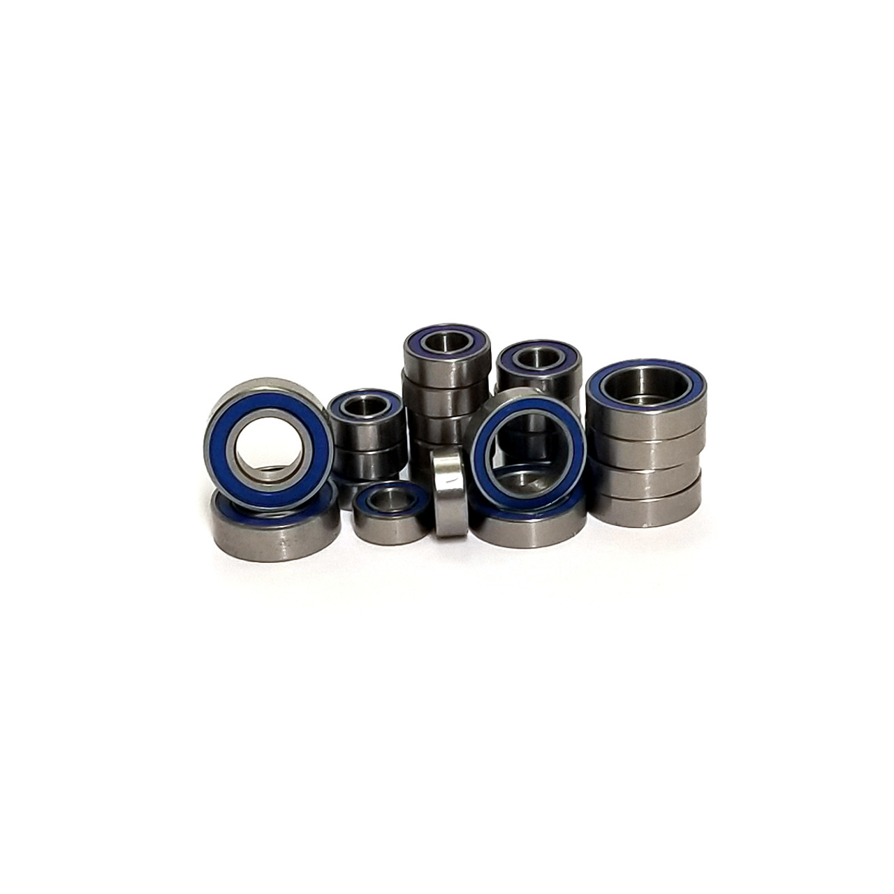 Full blue rubber sealed bearing kit for the Axial AX10 trucks!