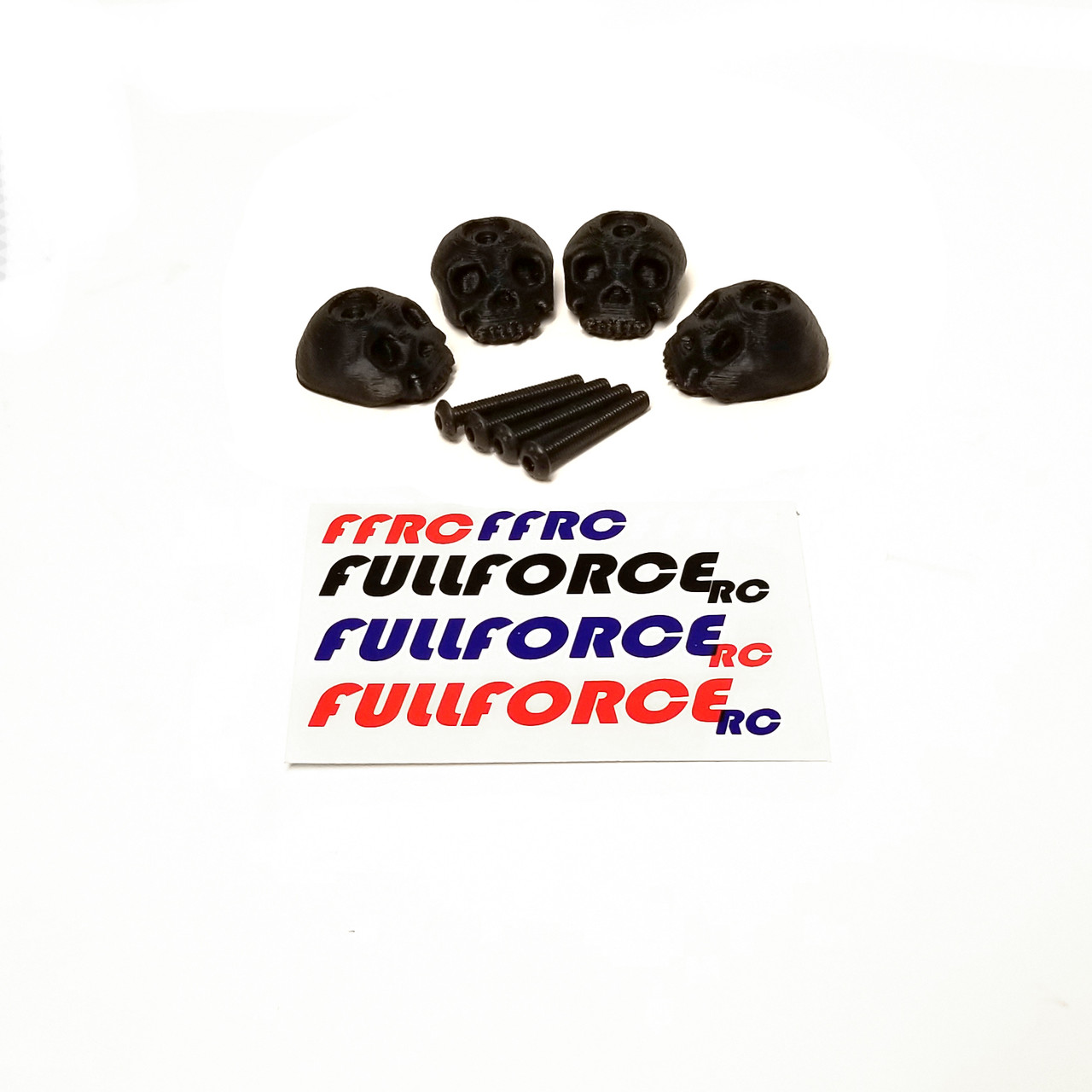 Traxxas MAXX 3D Printed Body washers.  Set of 4 in Black.
