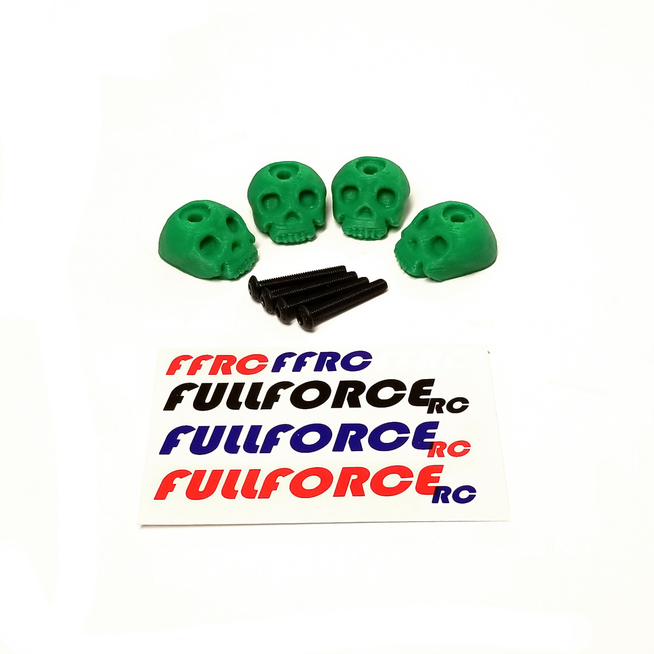 Traxxas MAXX 3D Printed Body washers.  Set of 4 in Green.