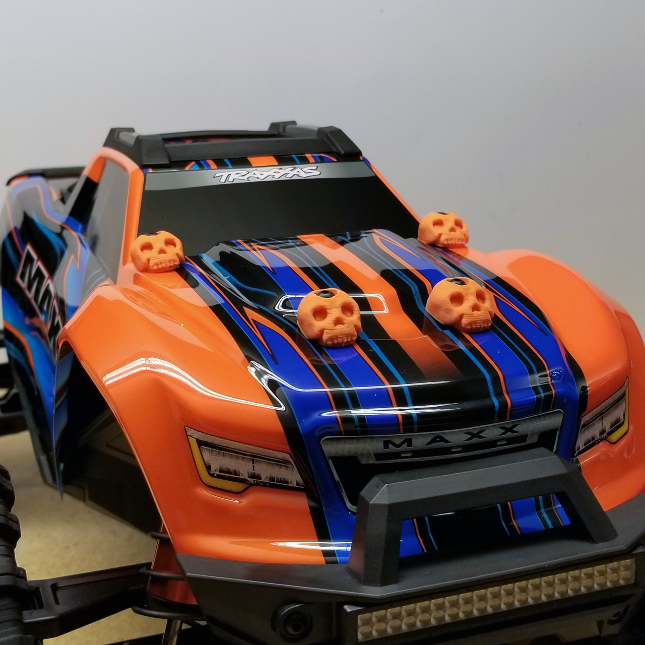 Traxxas MAXX 3D Printed Body washers in Orange!