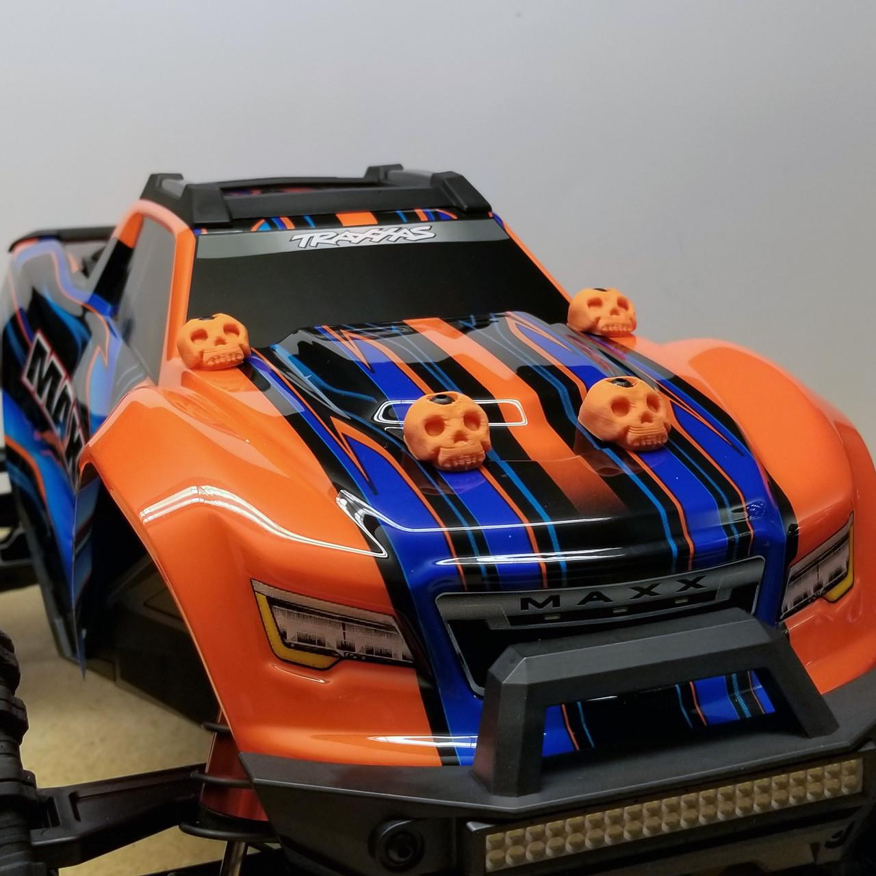 Traxxas MAXX 3D Printed Body washers in Orange!