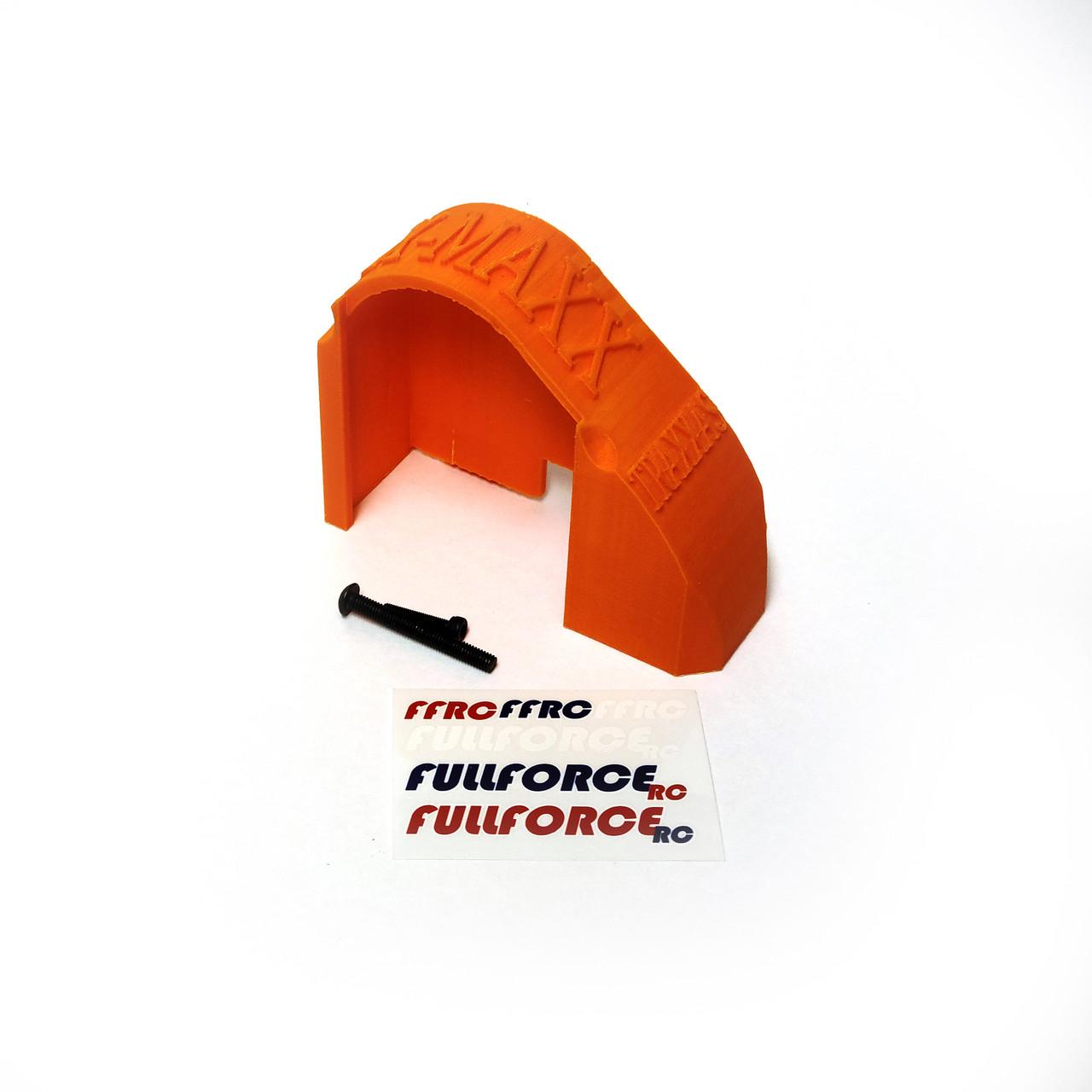 Traxxas X-MAXX Mod Gear Cover in Orange ABS