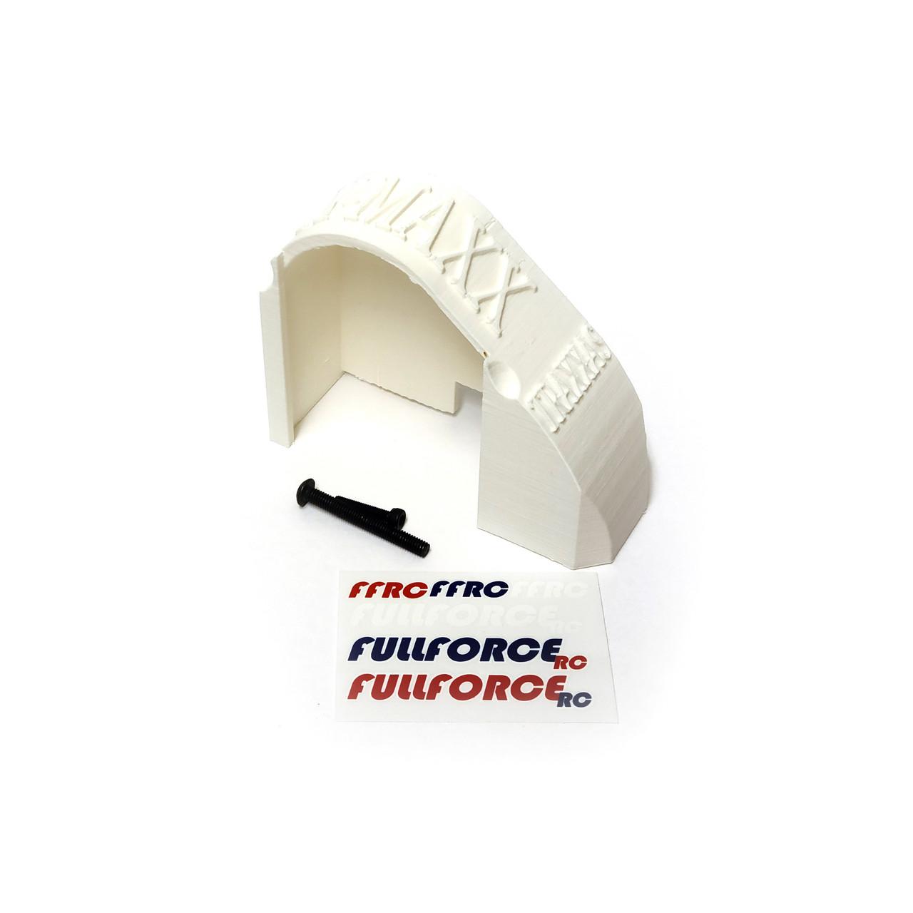 Traxxas X-MAXX Mod Gear Cover in White ABS